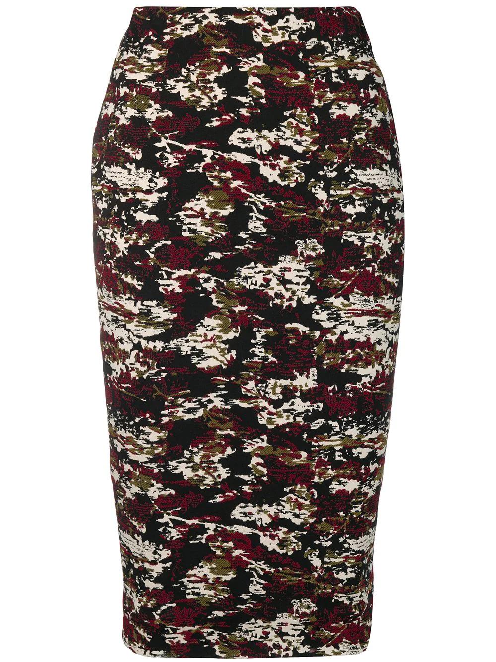 Victoria Beckham | жаккардовая юбка-карандаш | Clouty