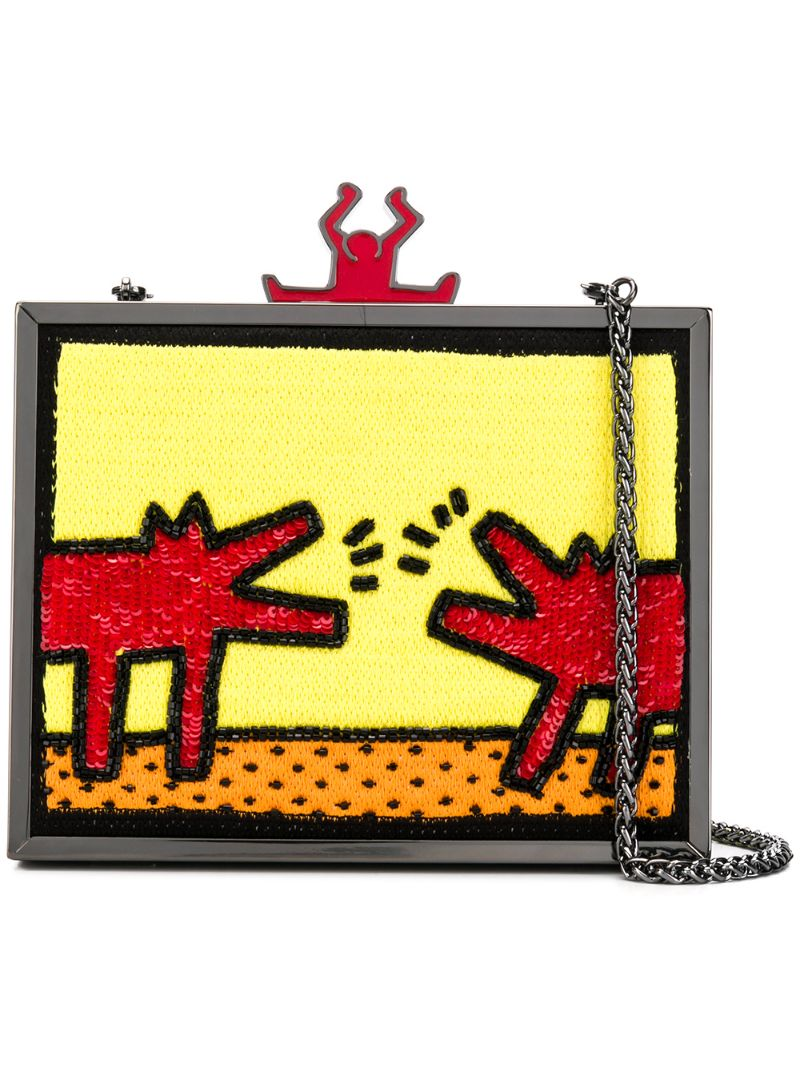 Alice + Olivia | клатч Alice+Olivia X Keith Haring | Clouty