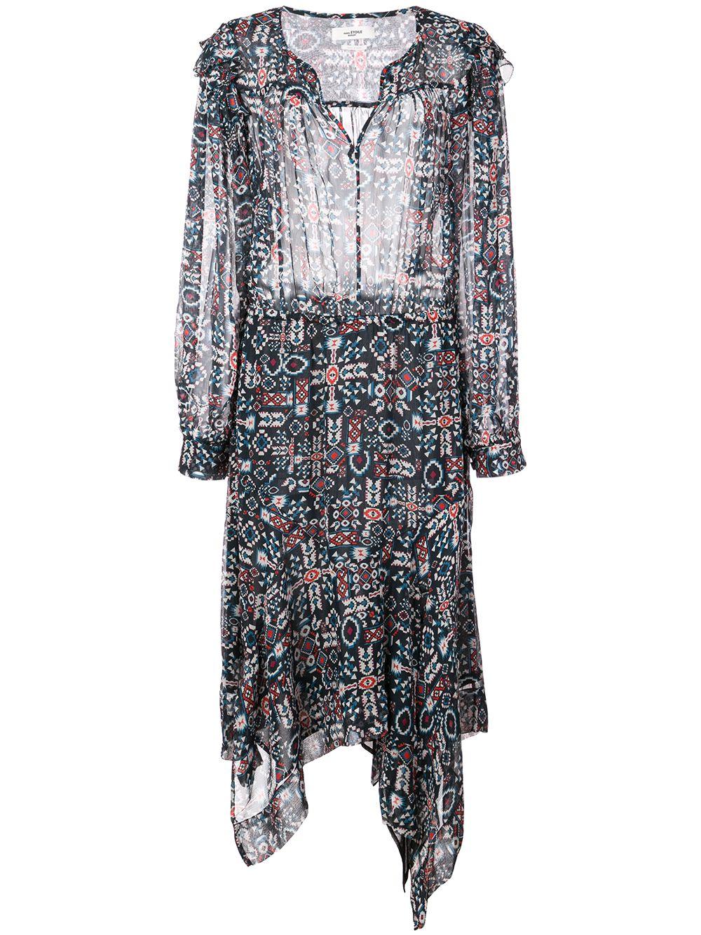 Isabel Marant Étoile | платье миди с ацтекским принтом | Clouty
