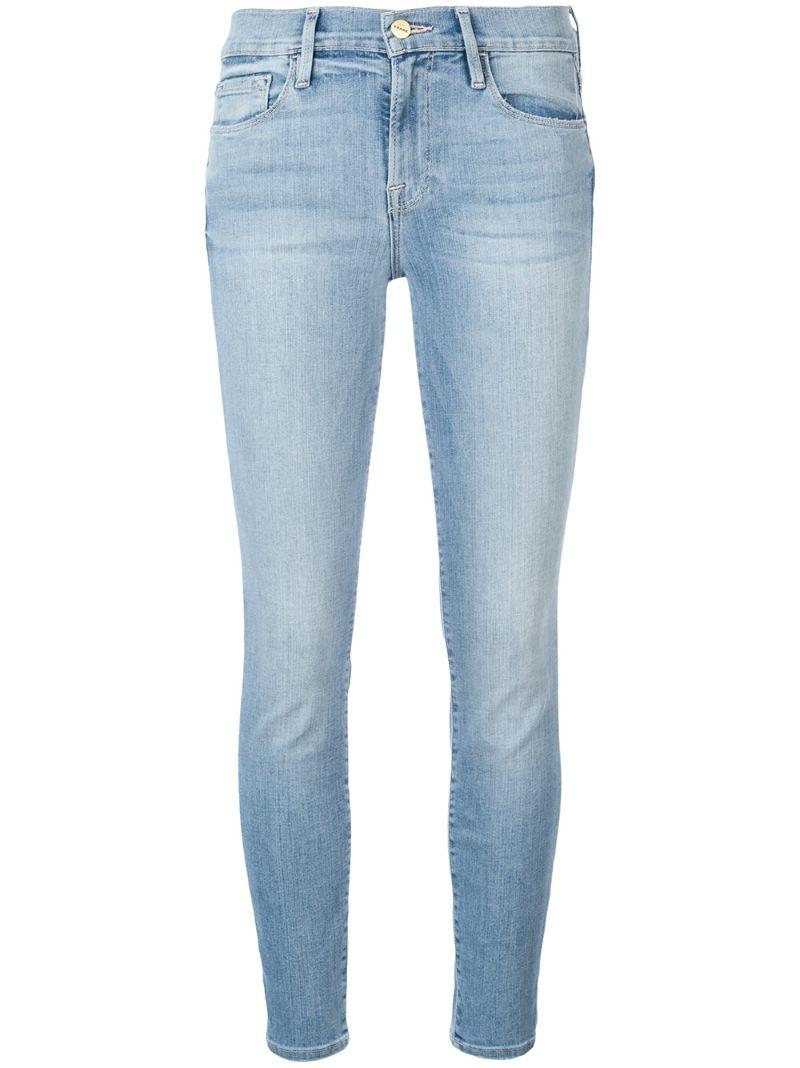 Frame | укороченные джинсы скинни | Clouty