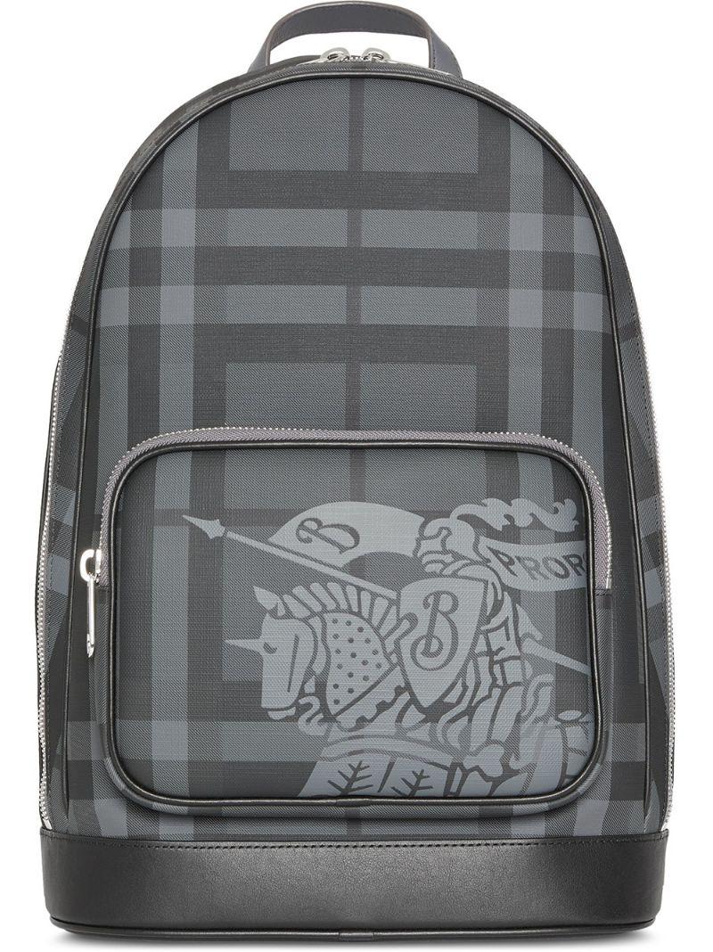 BURBERRY | рюкзак в клетку London Check с фирменной эмблемой | Clouty