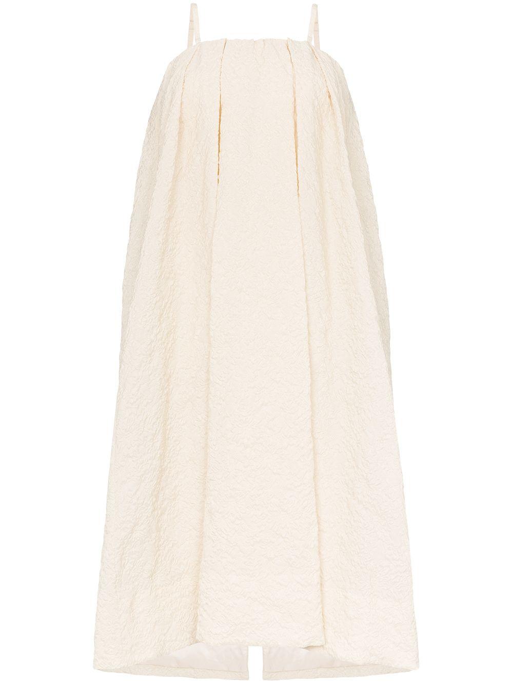 SIMONE ROCHA | фактурное платье миди с цветочным принтом | Clouty