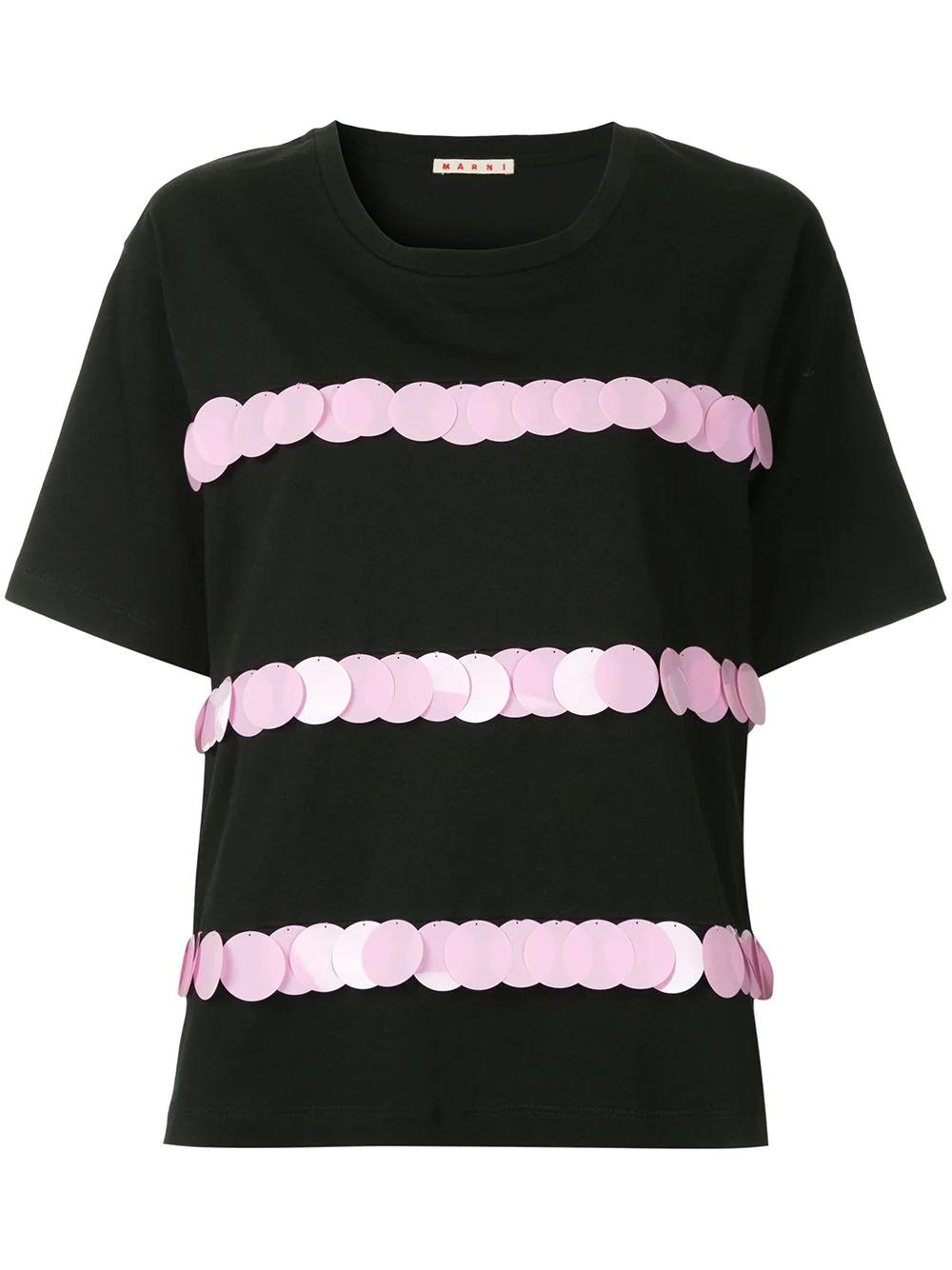Marni | Marni блузка с короткими рукавами и отделкой | Clouty