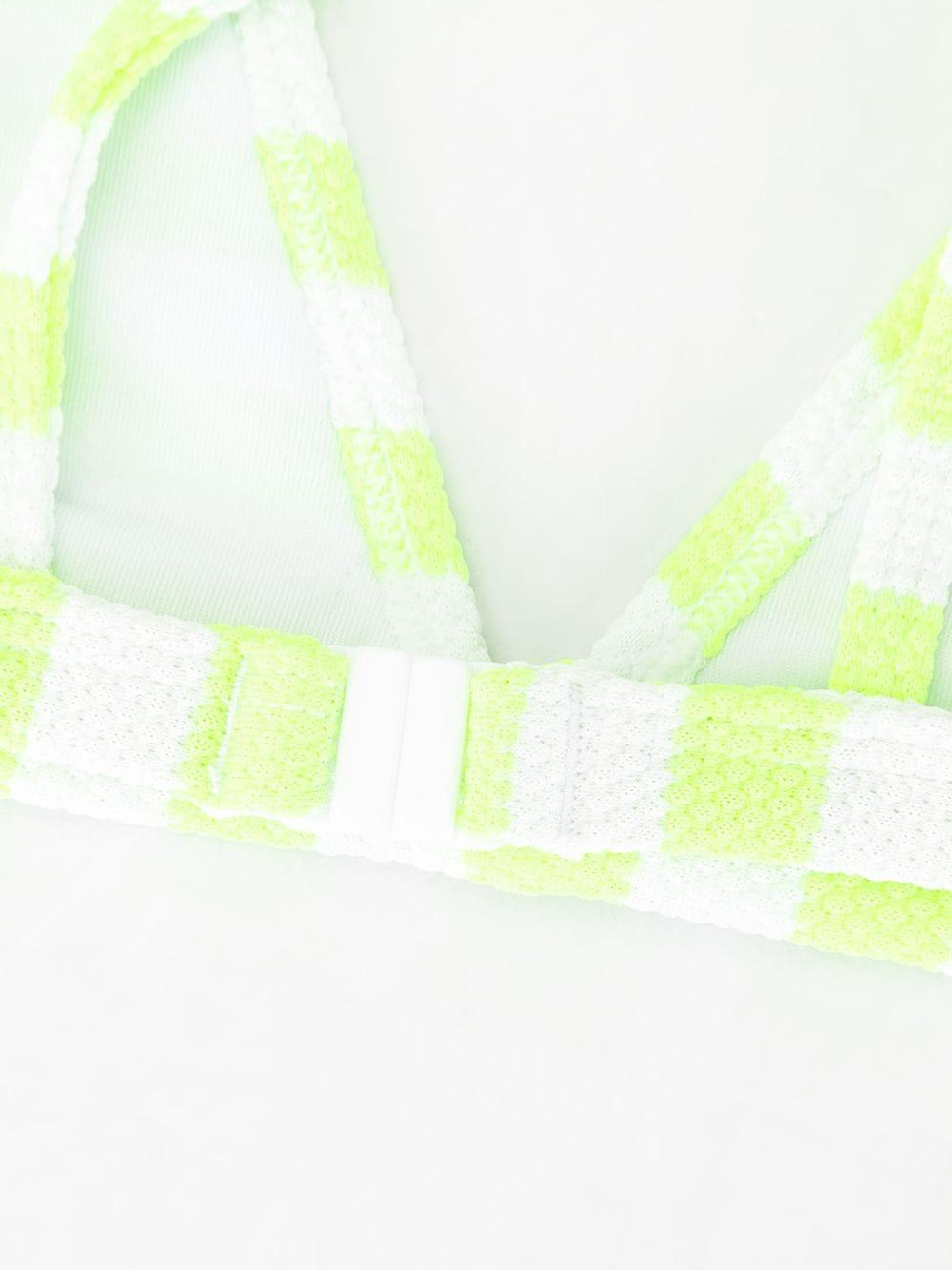 SUNUVA | Sunuva бикини в полоску с вышивкой ришелье | Clouty