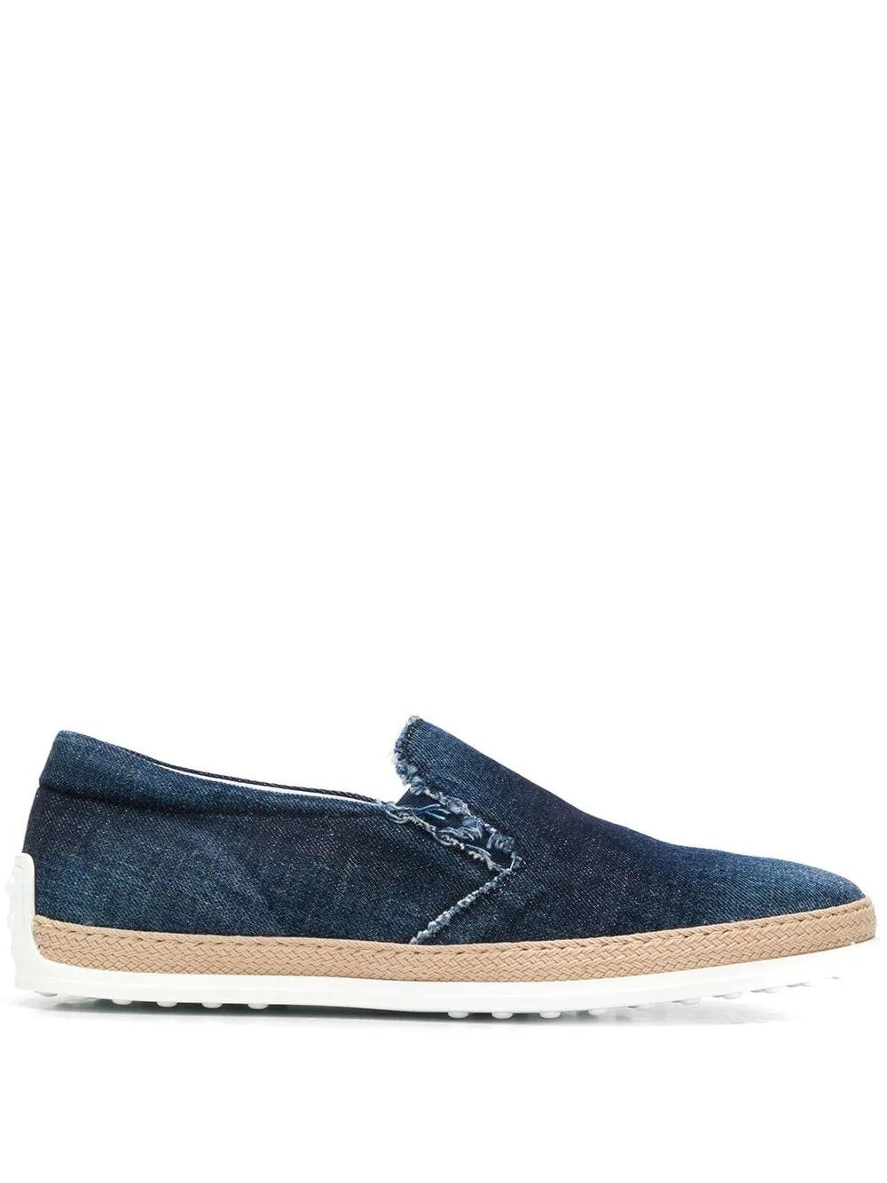 Tod's | джинсовые слипоны | Clouty