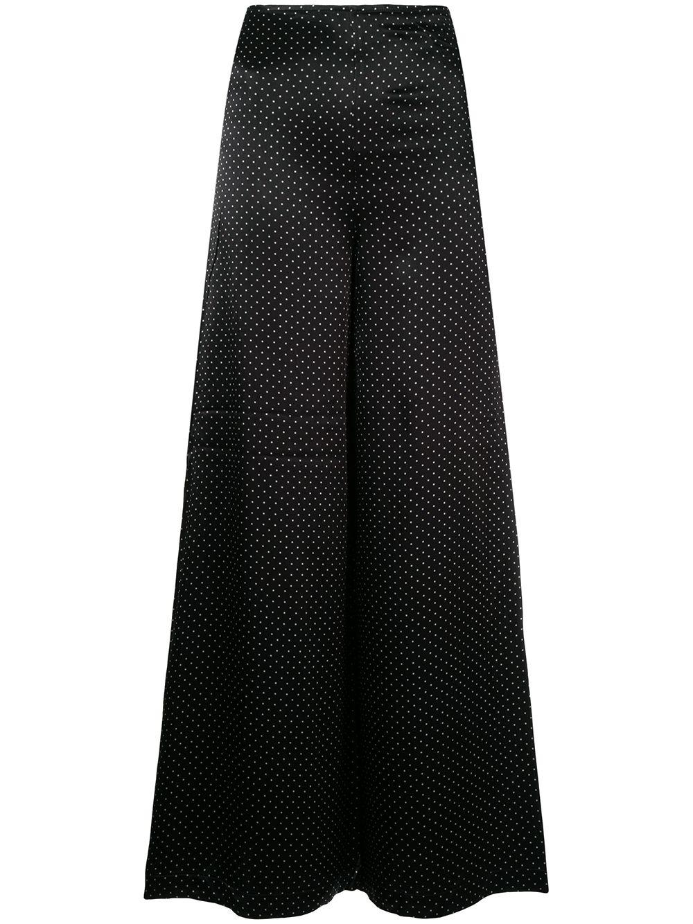 Ganni | брюки с широкими штанинами в горох | Clouty