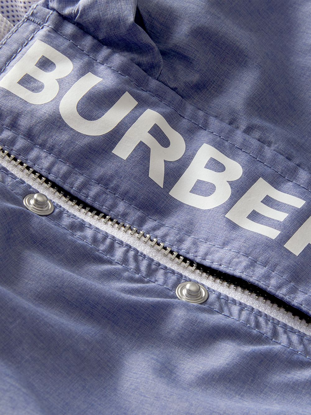 Burberry Kids | легкая куртка с капюшоном и принтом логотипа | Clouty