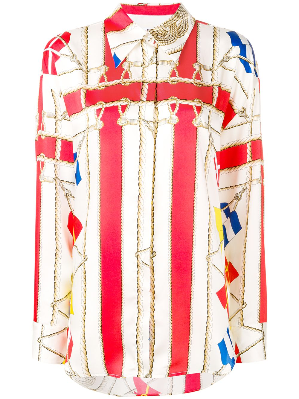 MSGM   длинная рубашка с принтом   Clouty