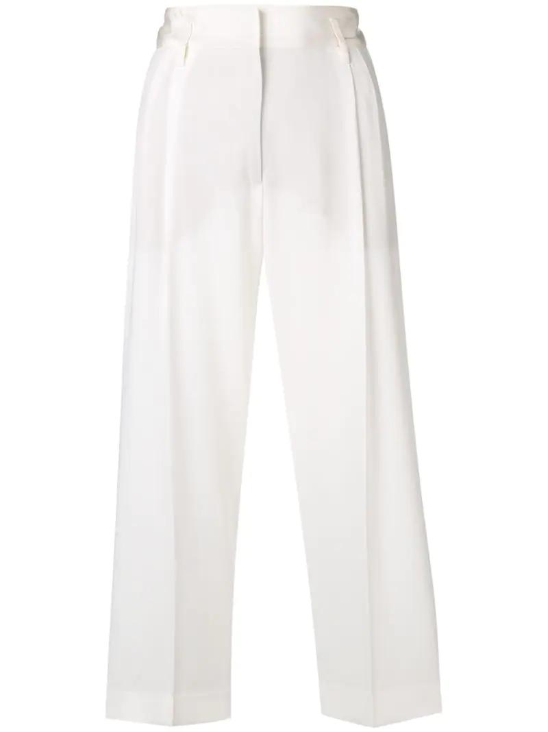 Alberto Biani | укороченные брюки со складками | Clouty