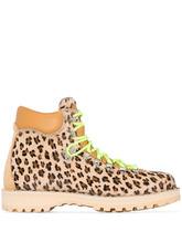 Фото Diemme ботинки с леопардовым принтом