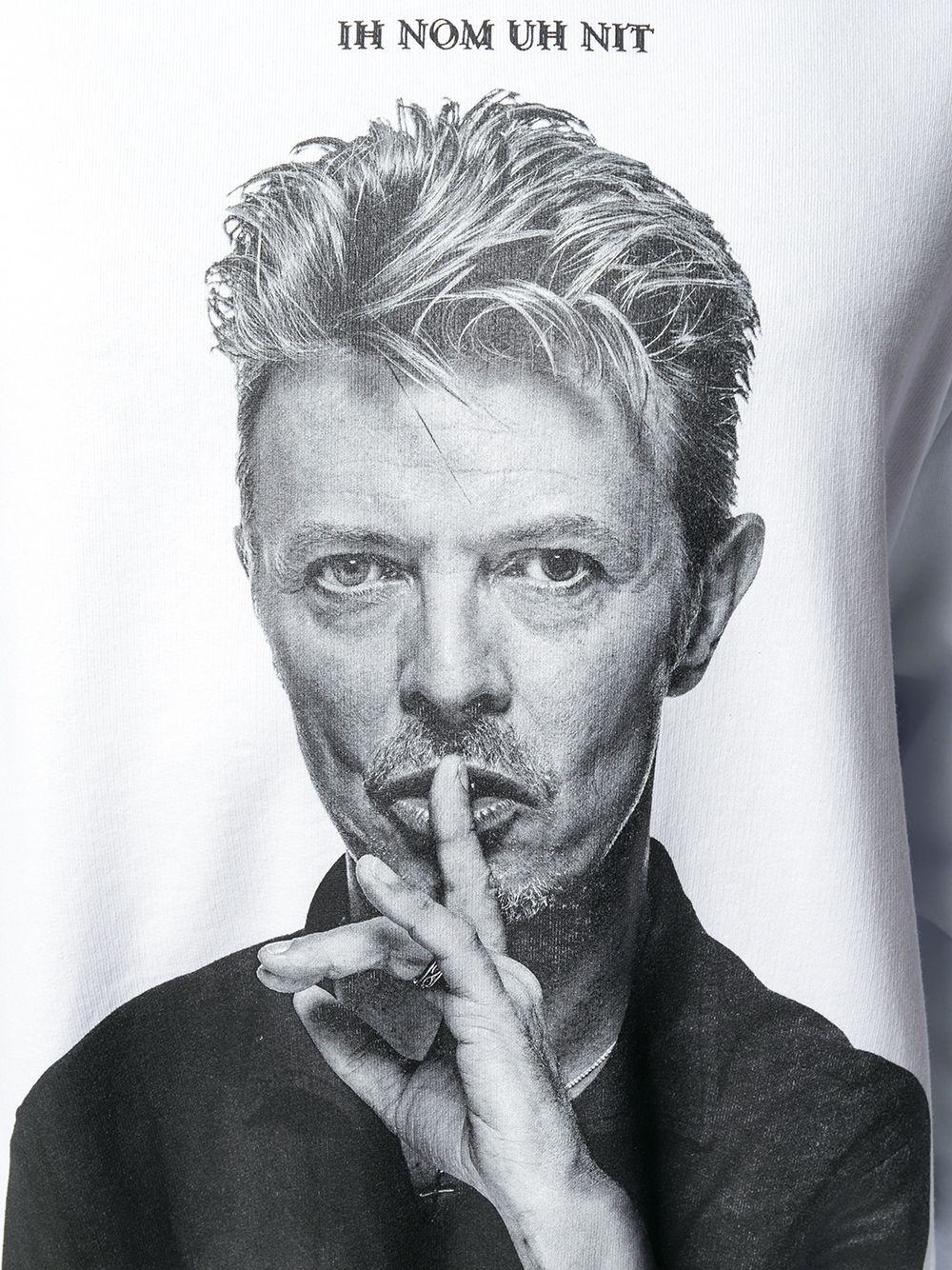 Ih Nom Uh Nit | Ih Nom Uh Nit толстовка с капюшоном и принтом 'Bowie Silence' | Clouty