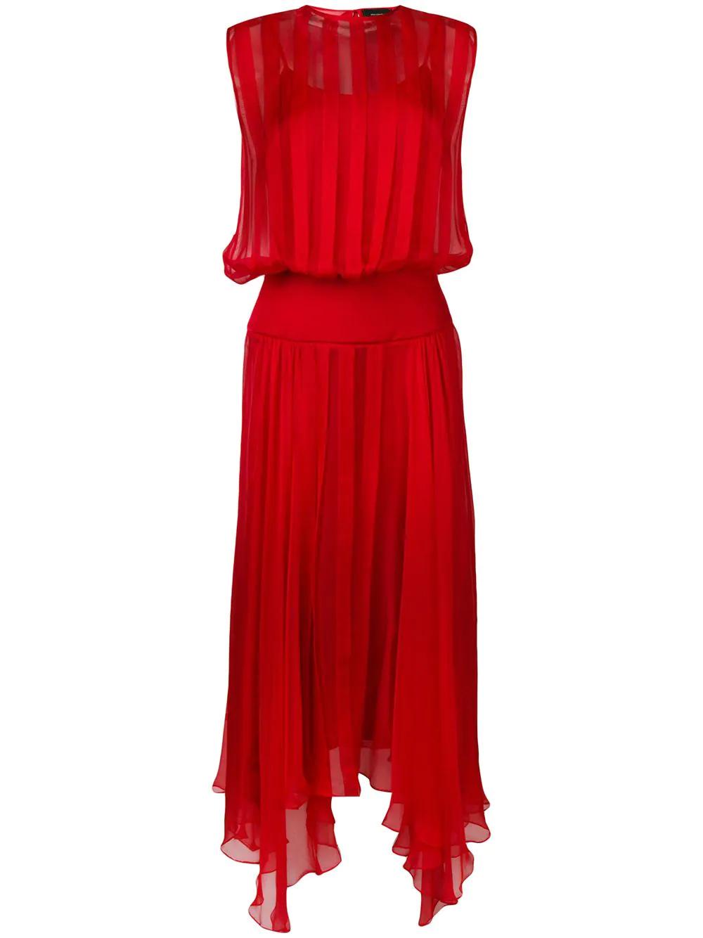 Irina Schrotter | плиссированное платье без рукавов | Clouty