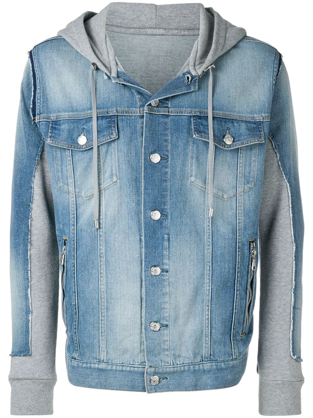 BALMAIN   джинсовая куртка с капюшоном   Clouty