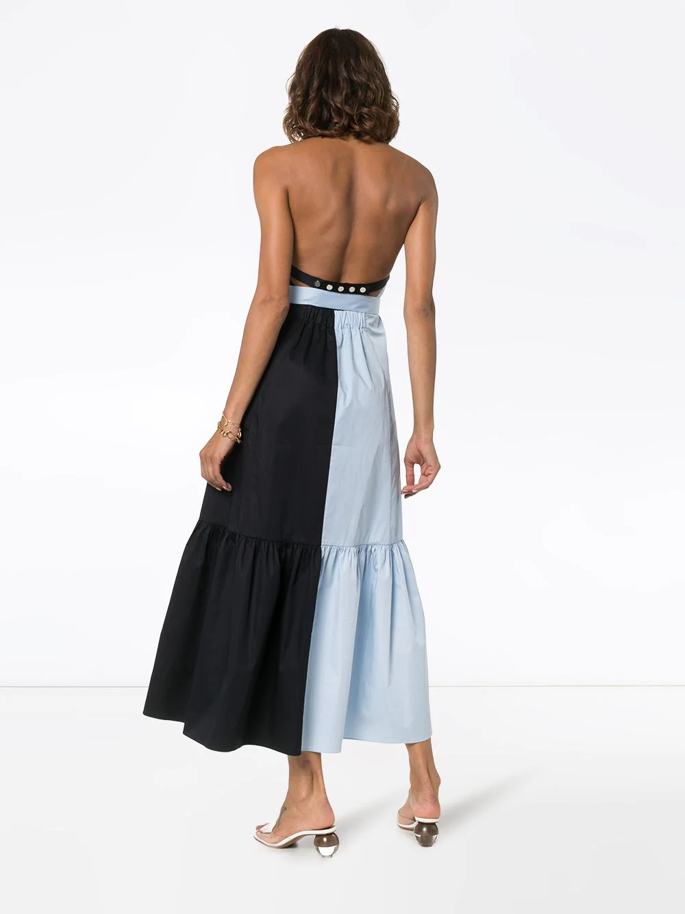 TIBI | платье миди Apron с поясом | Clouty