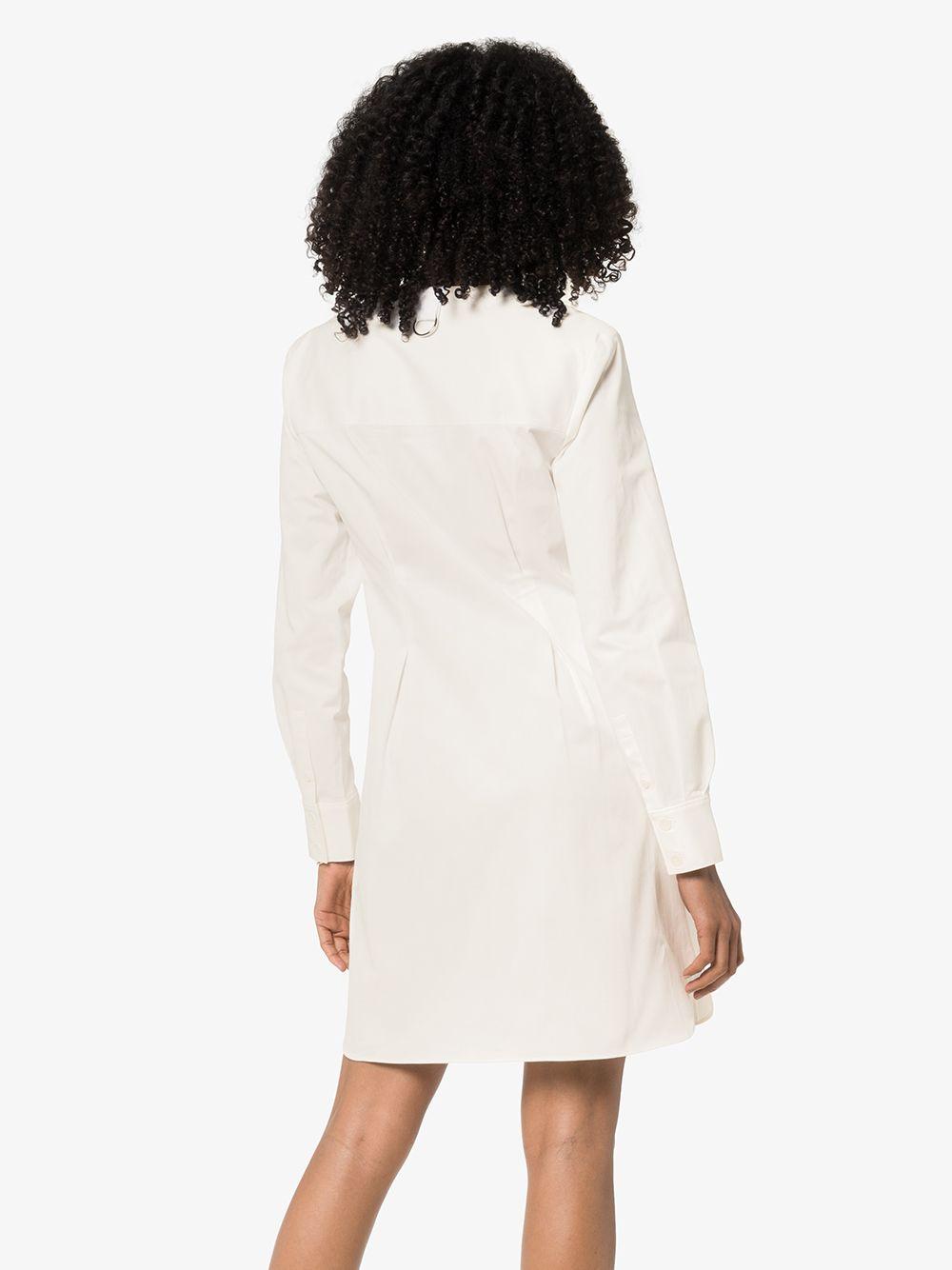 TIBI   саржевое платье-рубашка Dominic   Clouty