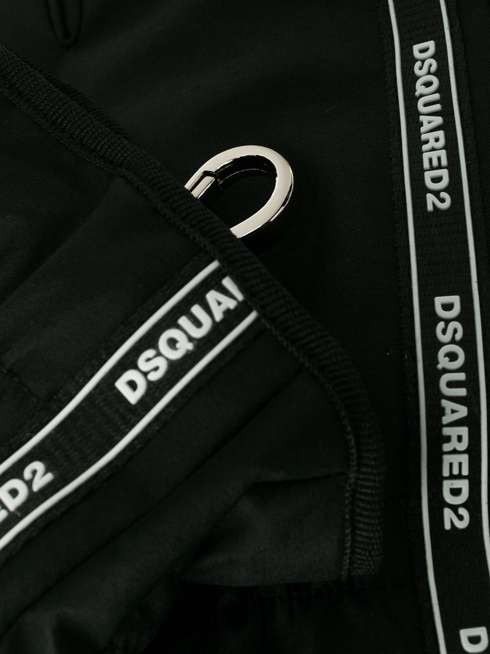 DSQUARED2 | перчатки в полоску с логотипом | Clouty