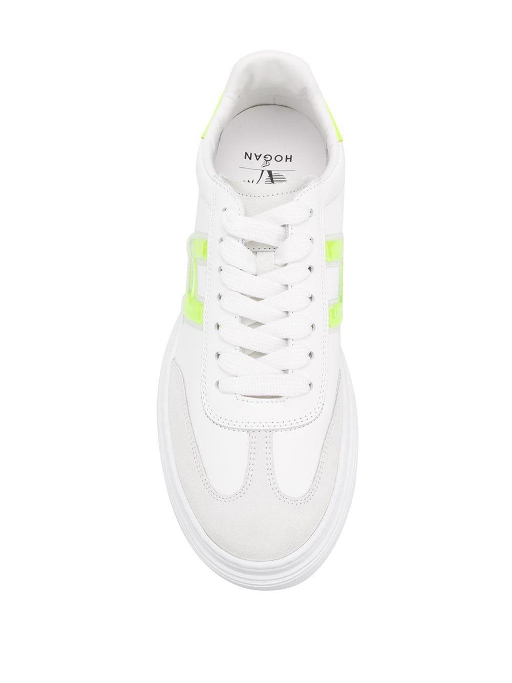 HOGAN | кроссовки на шнуровке с флюоресцентной отделкой | Clouty