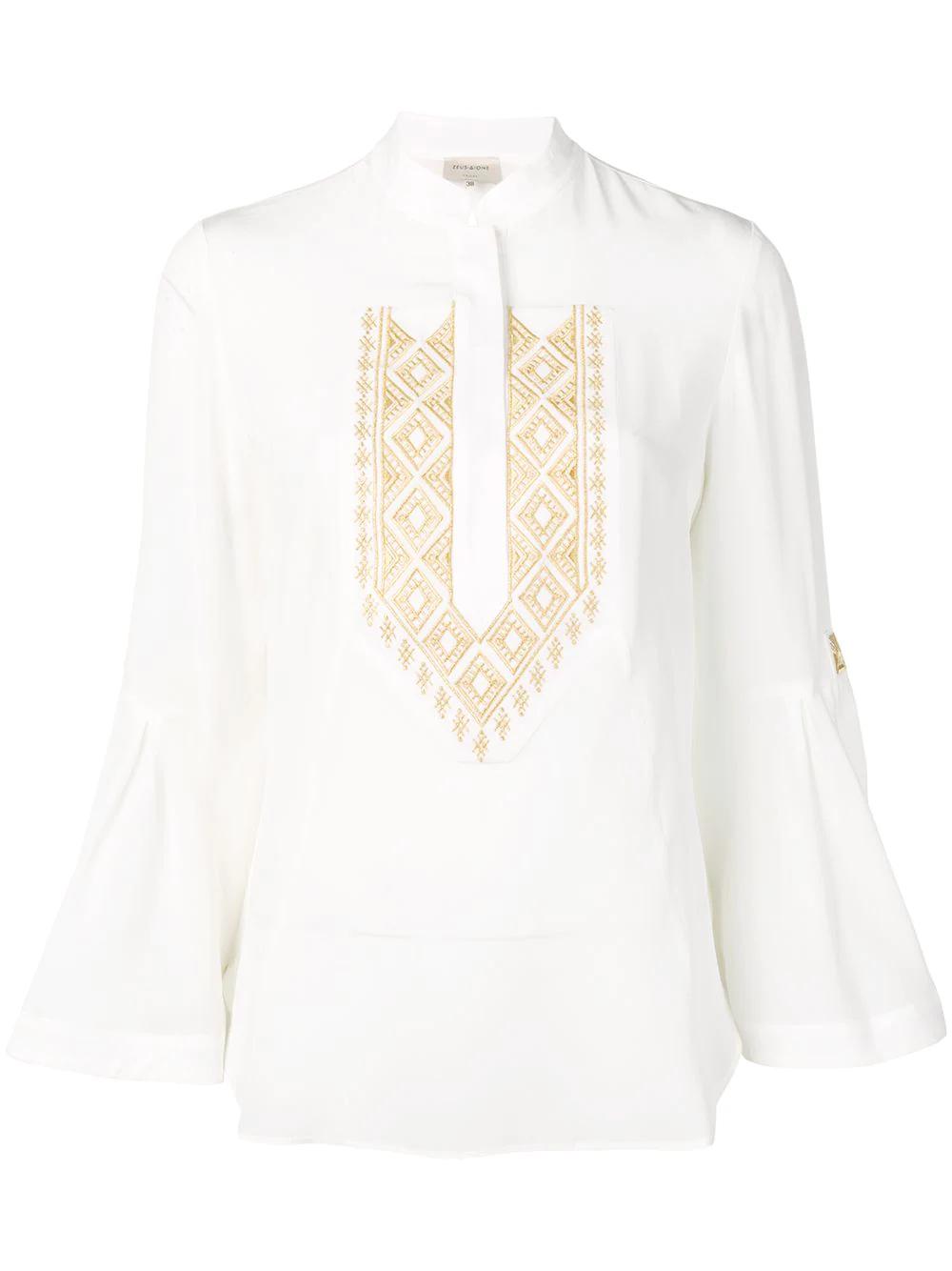 Zeus + Dione | блузка 'Delphi' с вышивкой | Clouty