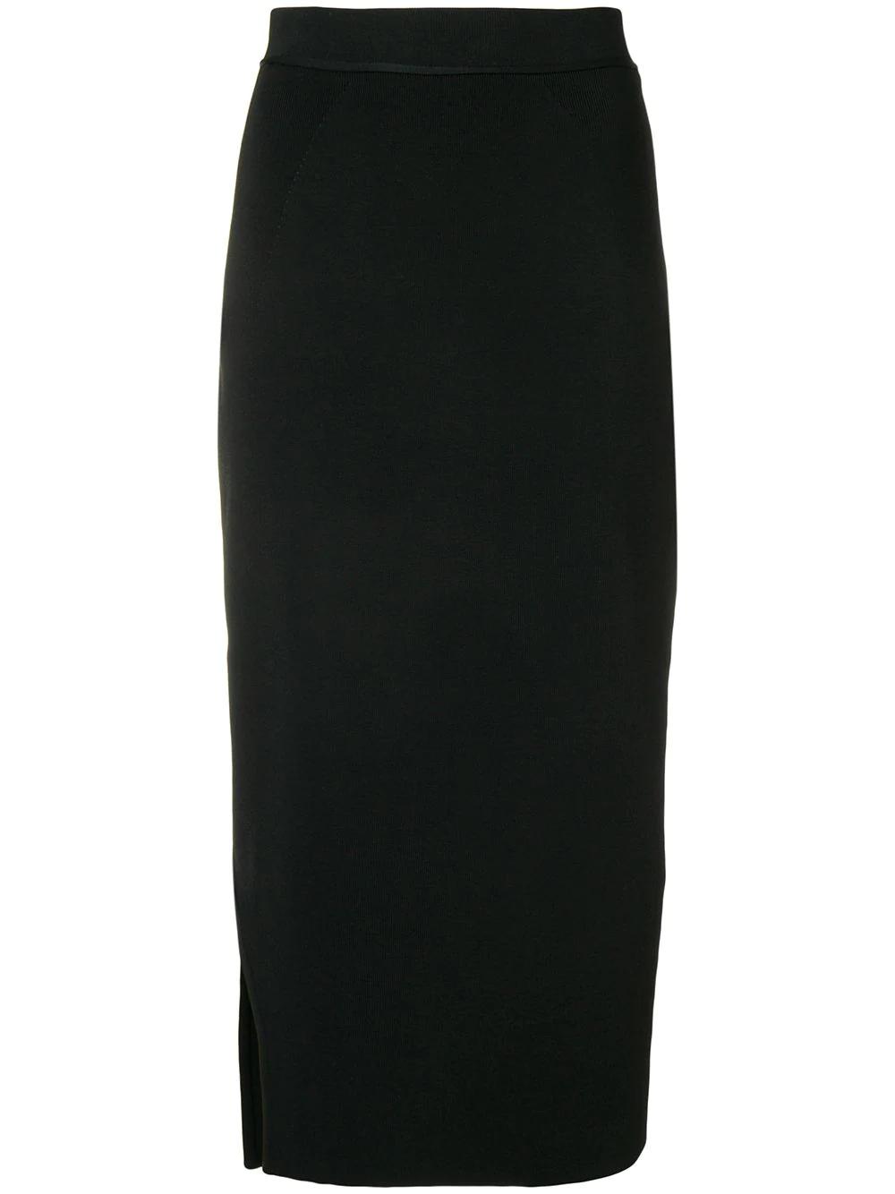 Victoria Beckham | юбка-карандаш с боковым разрезом | Clouty