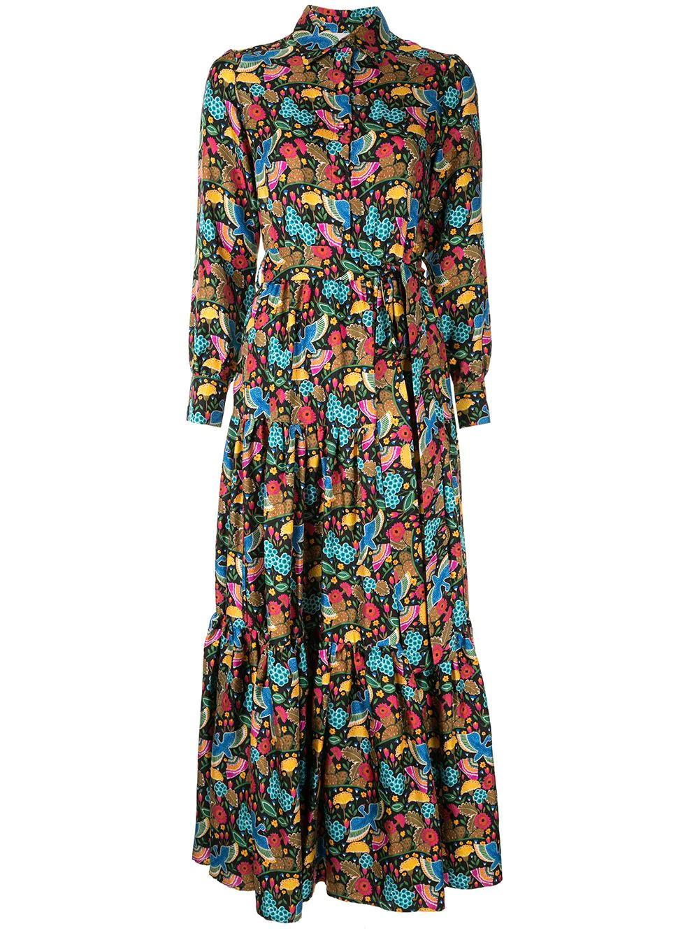 La DoubleJ | платье-рубашка с цветочным принтом | Clouty