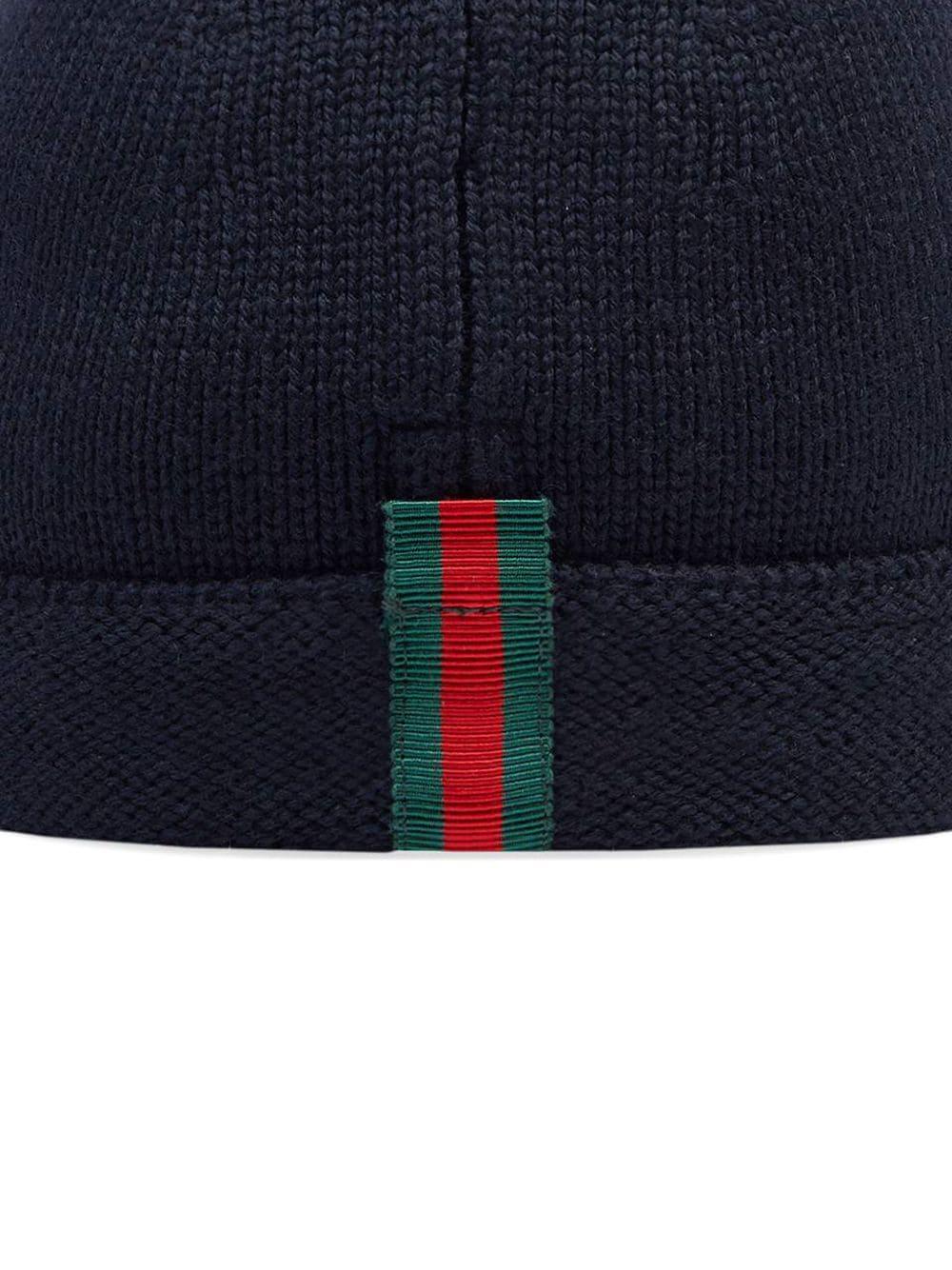 Gucci Kids | трикотажная шапка с отделкой Web | Clouty