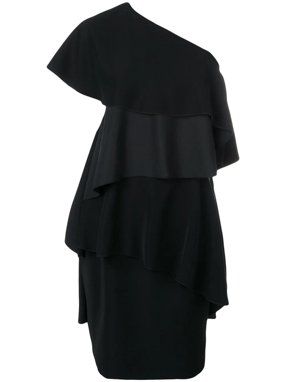 LANVIN | платье на одно плечо с оборками | Clouty