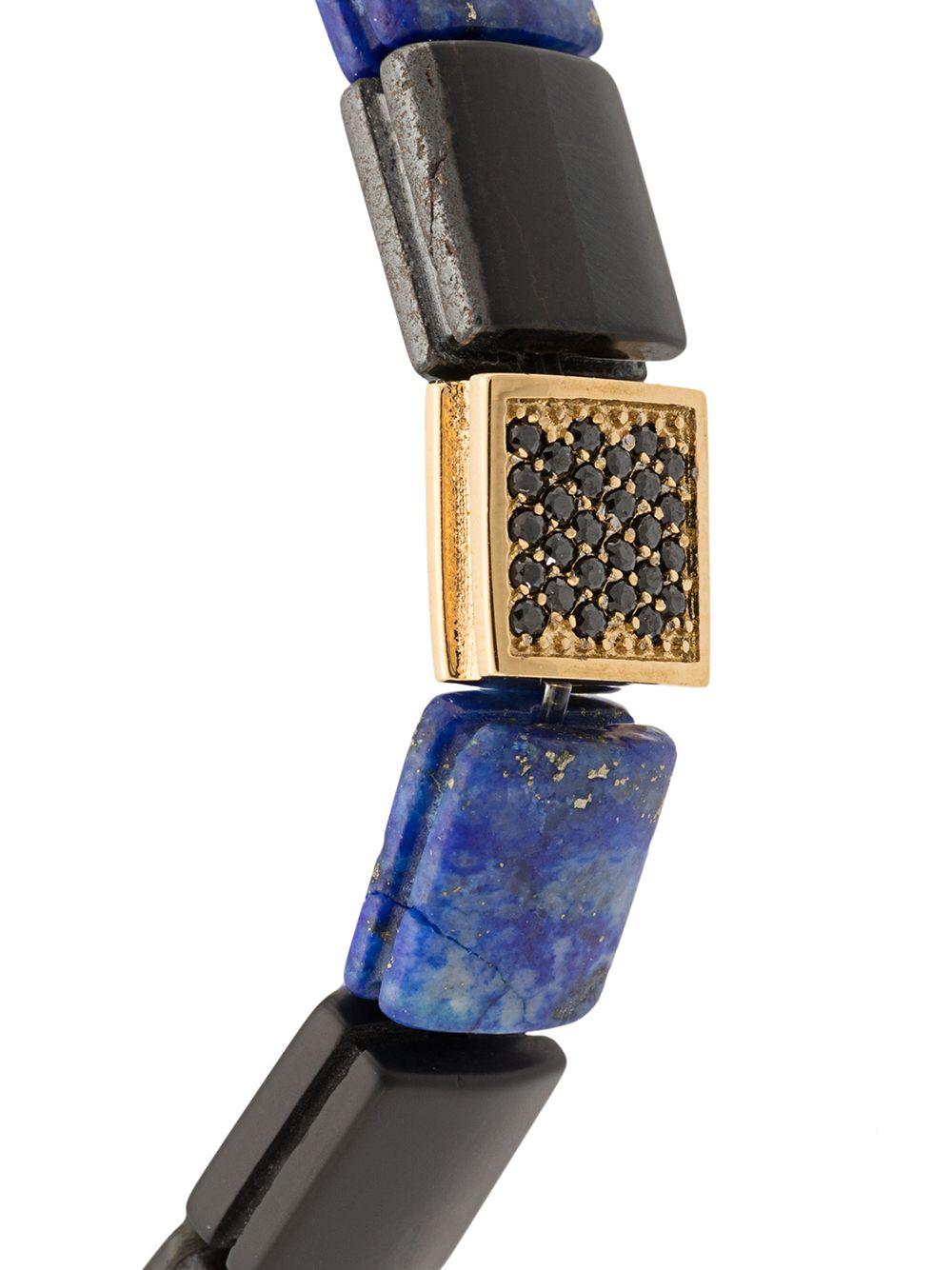 "Nialaya Jewelry   Nialaya Jewelry ""браслет с бусинами из оникса, тигрового глаза и лазурита   Clouty"