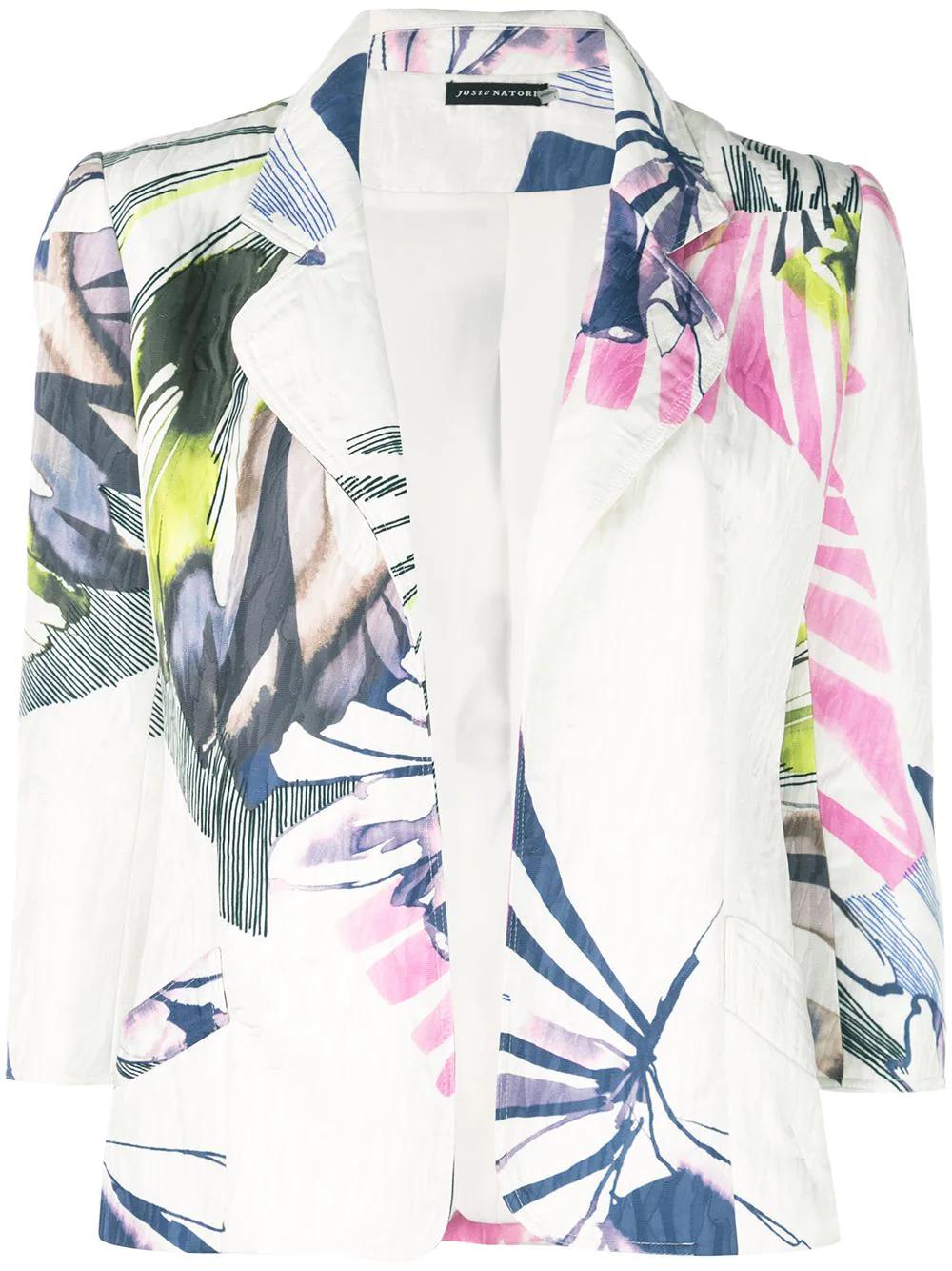 Josie Natori | жаккардовый жакет Botanical Palm | Clouty
