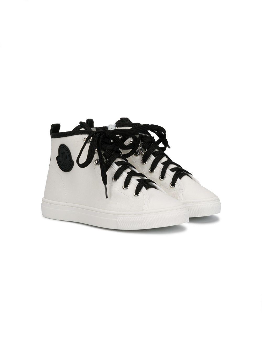 Moncler Enfant | кроссовки с контрастной шнуровкой | Clouty