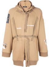 пальто с поясом и капюшоном