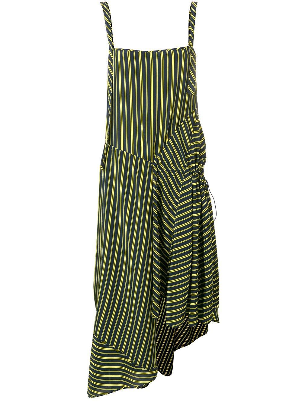 NINA RICCI | платье асимметричного кроя в полоску | Clouty