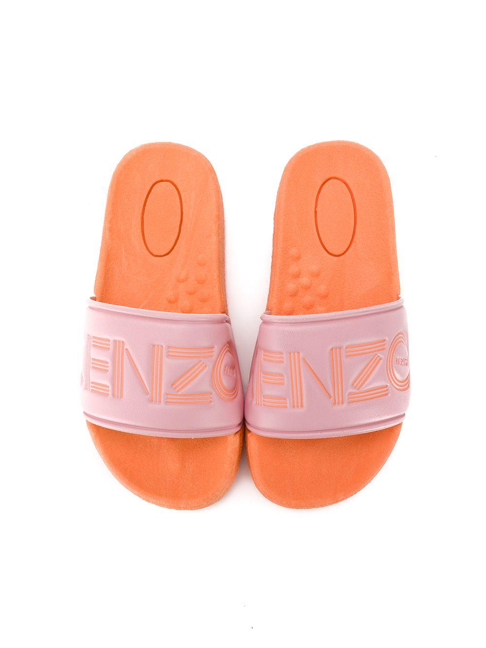 KENZO Kids | Kenzo Kids шлепанцы с тисненым логотипом | Clouty