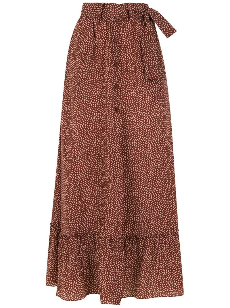 Egrey | длинная юбка с принтом | Clouty