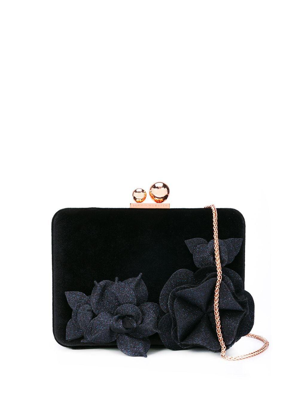 SOPHIA WEBSTER | Sophia Webster клатч с цветочной аппликацией | Clouty