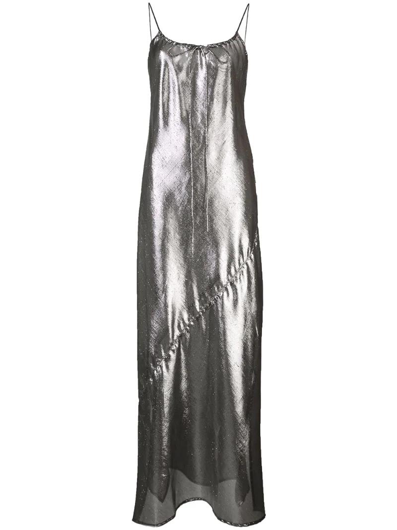 Lisa Marie Fernandez | прозрачное платье с эффектом металлик | Clouty