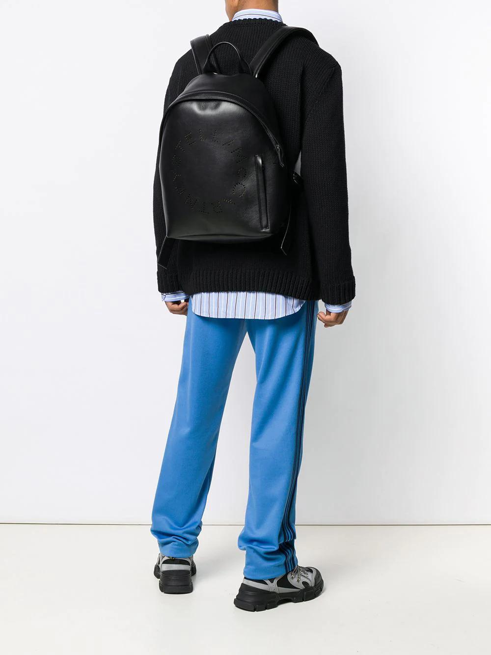 Stella McCartney | перфорированный рюкзак с логотипом | Clouty
