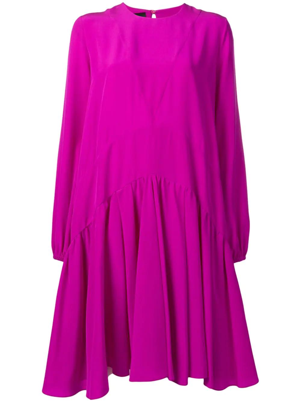 Rochas | платье со вставками и складками | Clouty