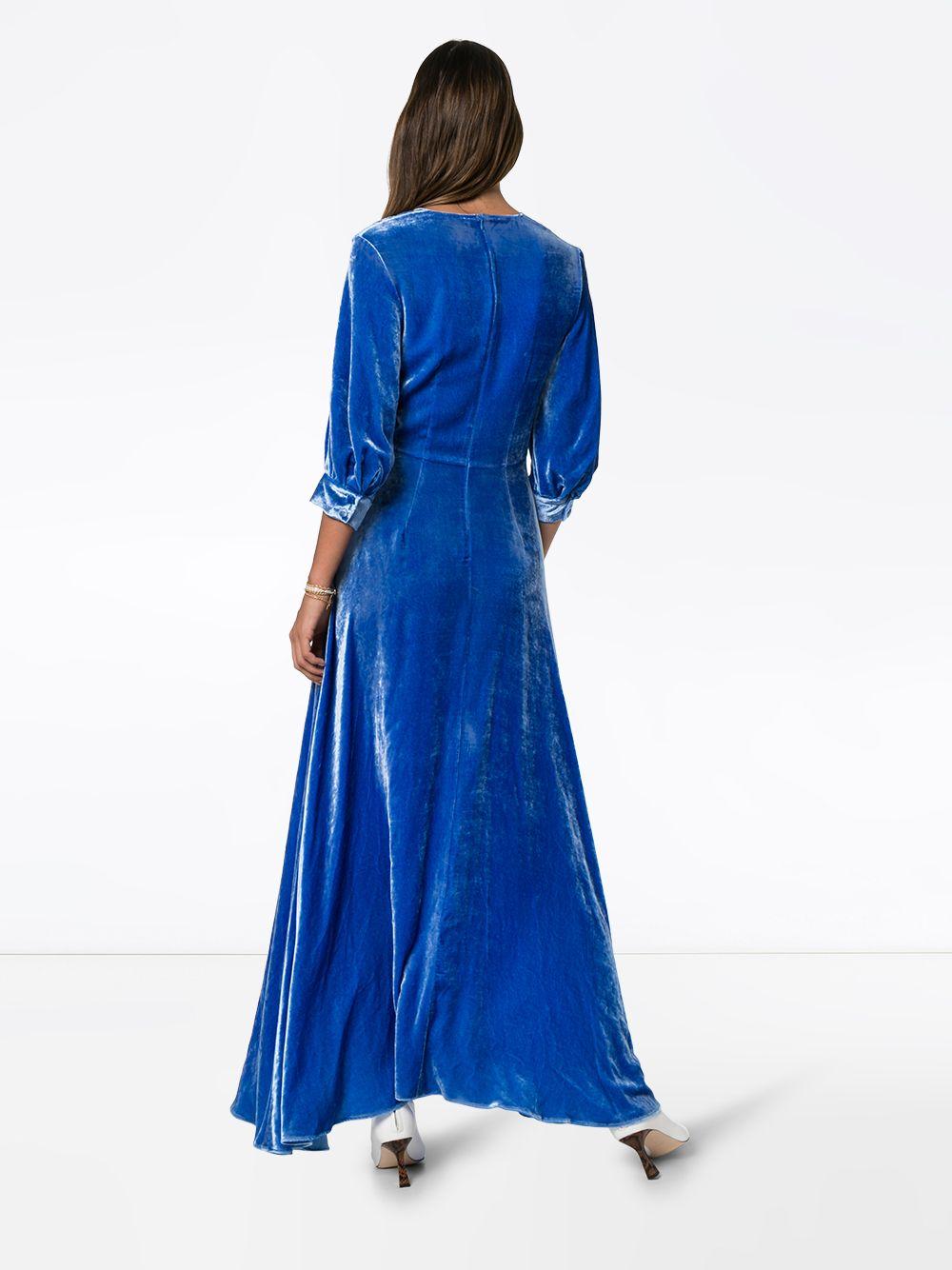 Deitas | бархатное платье макси | Clouty