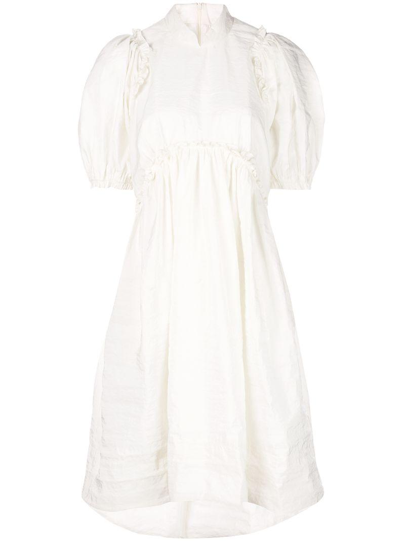 SIMONE ROCHA   платье миди с оборками   Clouty