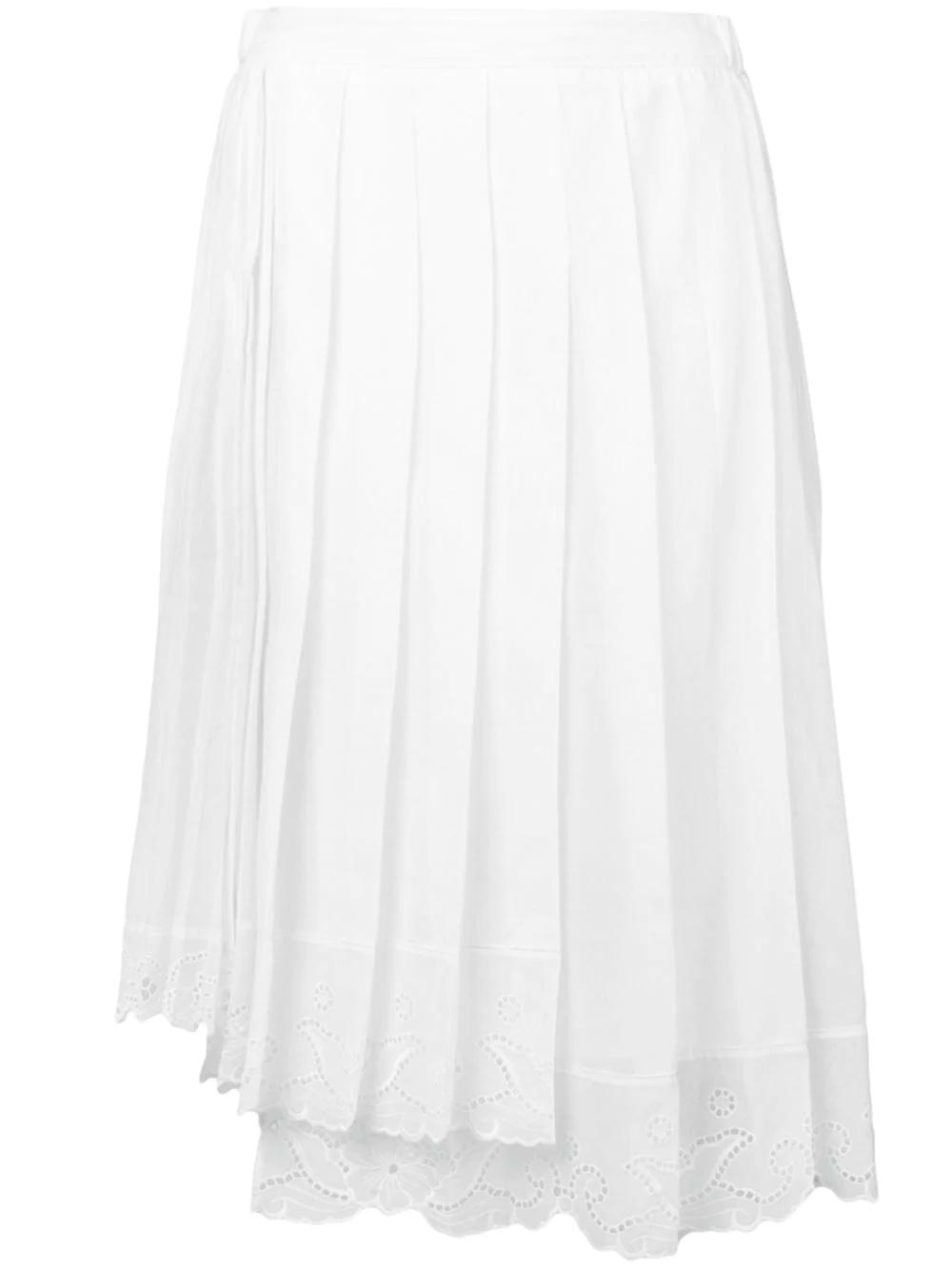 No. 21 | плиссированная юбка с кружевной отделкой | Clouty