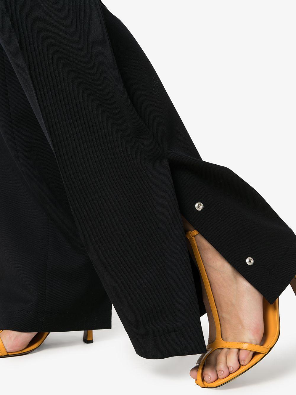 JIL SANDER | Jil Sander брюки широкого кроя с разрезами | Clouty