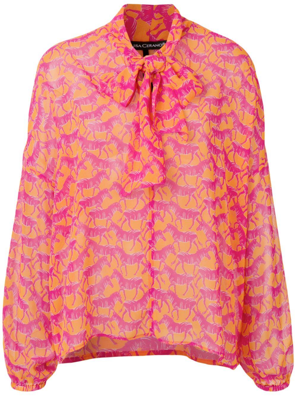 Luisa Cerano | блузка с изображением зебры | Clouty