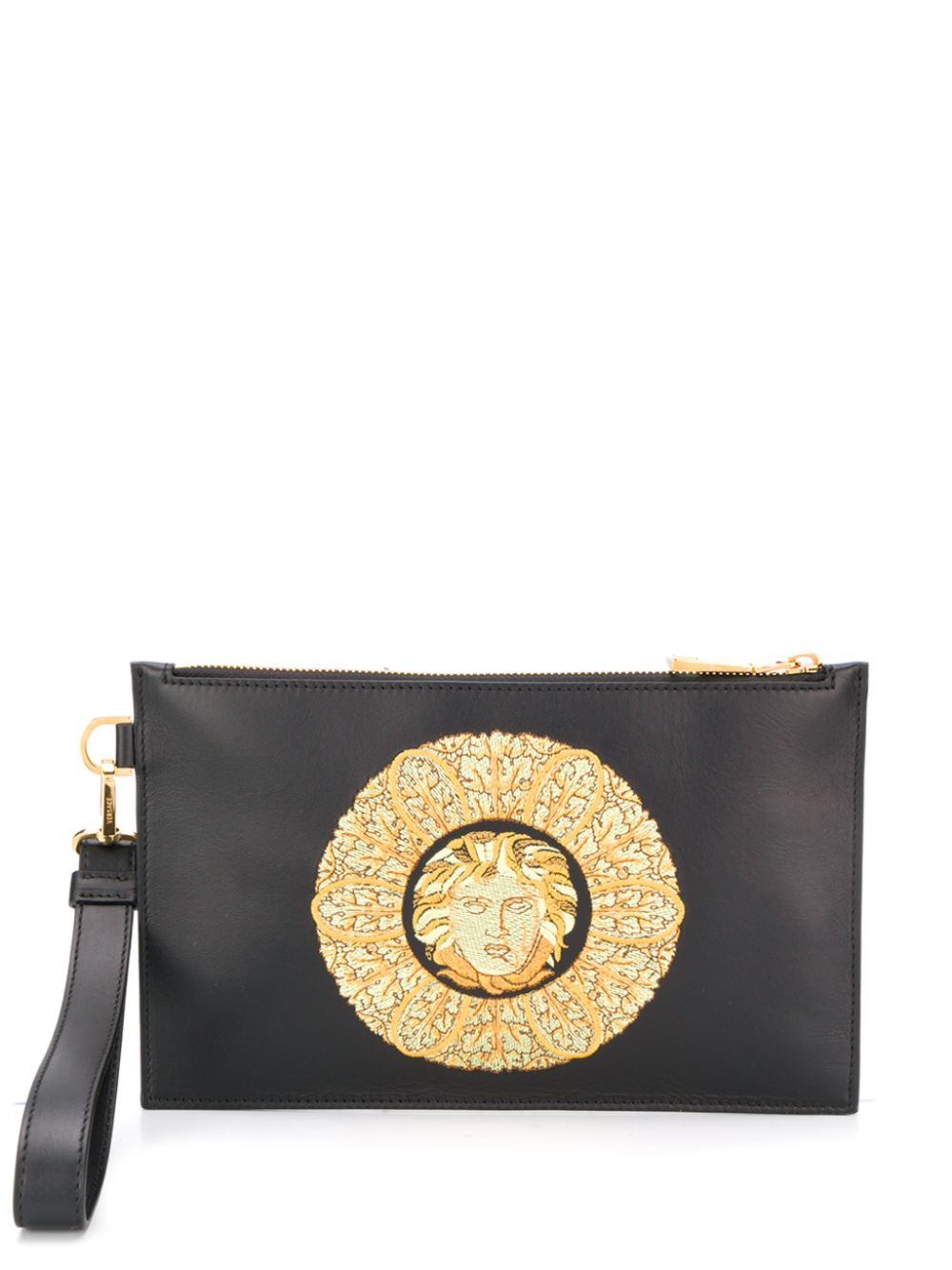 Versace   клатч с вышивкой Medusa   Clouty