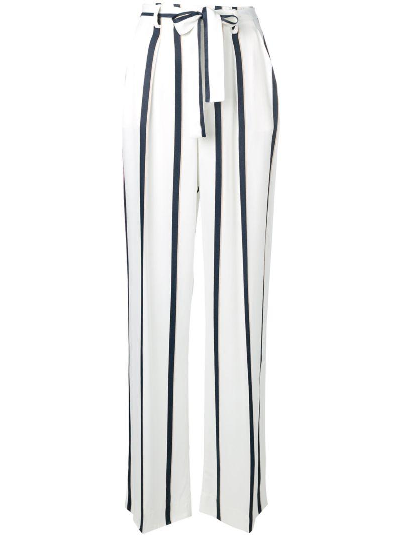 Equipment | прямые брюки в полоску | Clouty