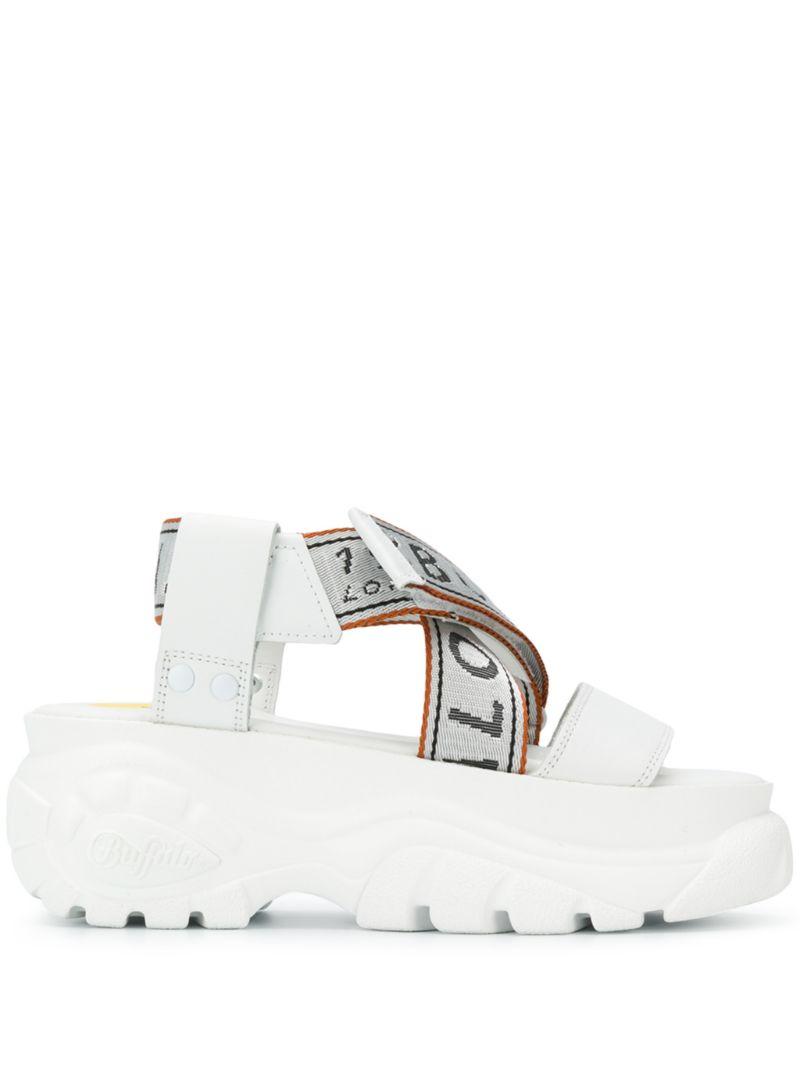 Buffalo | сандалии с логотипами на ремешках | Clouty