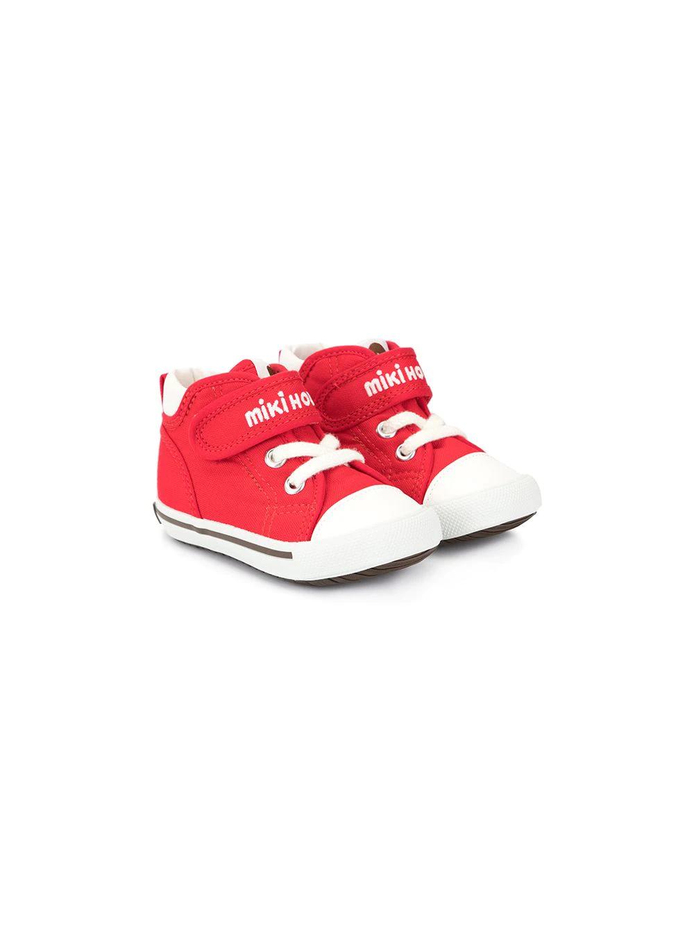 Miki House | Miki House кроссовки на липучке с логотипом | Clouty