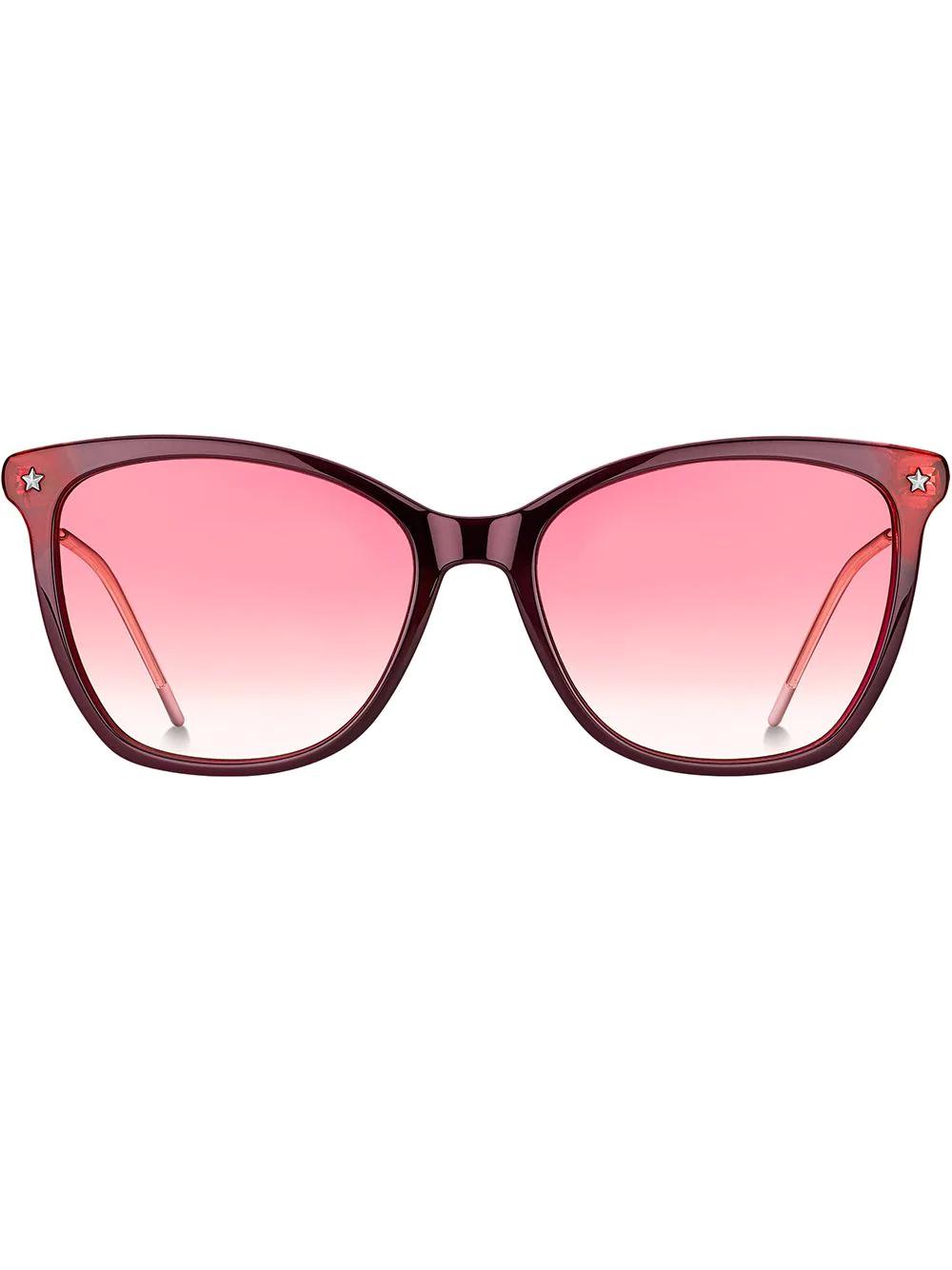 TOMMY HILFIGER | солнцезащитные очки в массивной оправе 'кошачий глаз' | Clouty