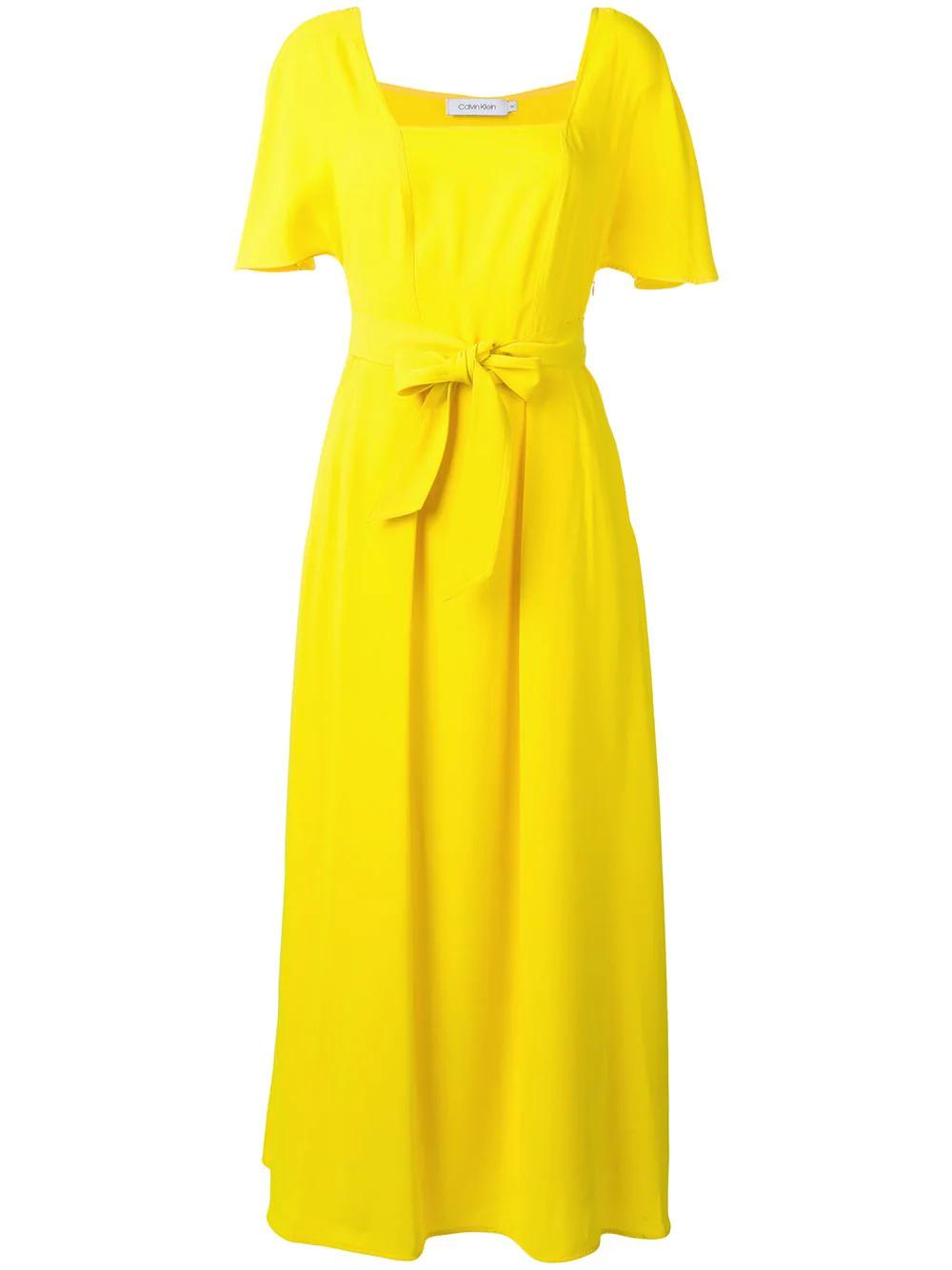 Calvin Klein | платье макси с поясом | Clouty