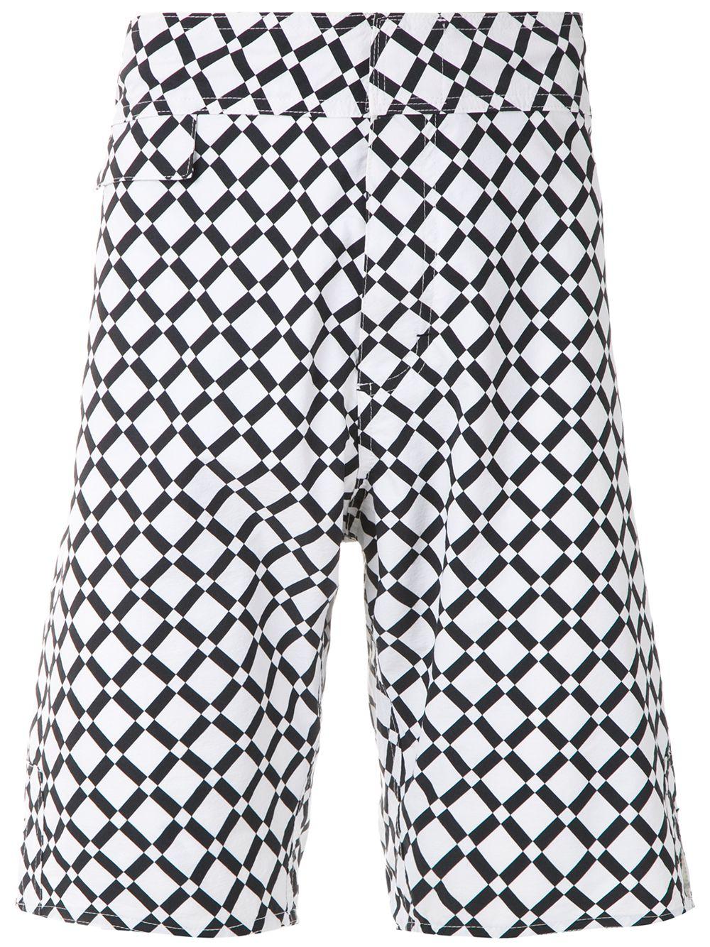 Amir Slama   Amir Slama плавки-шорты с геометричным принтом   Clouty