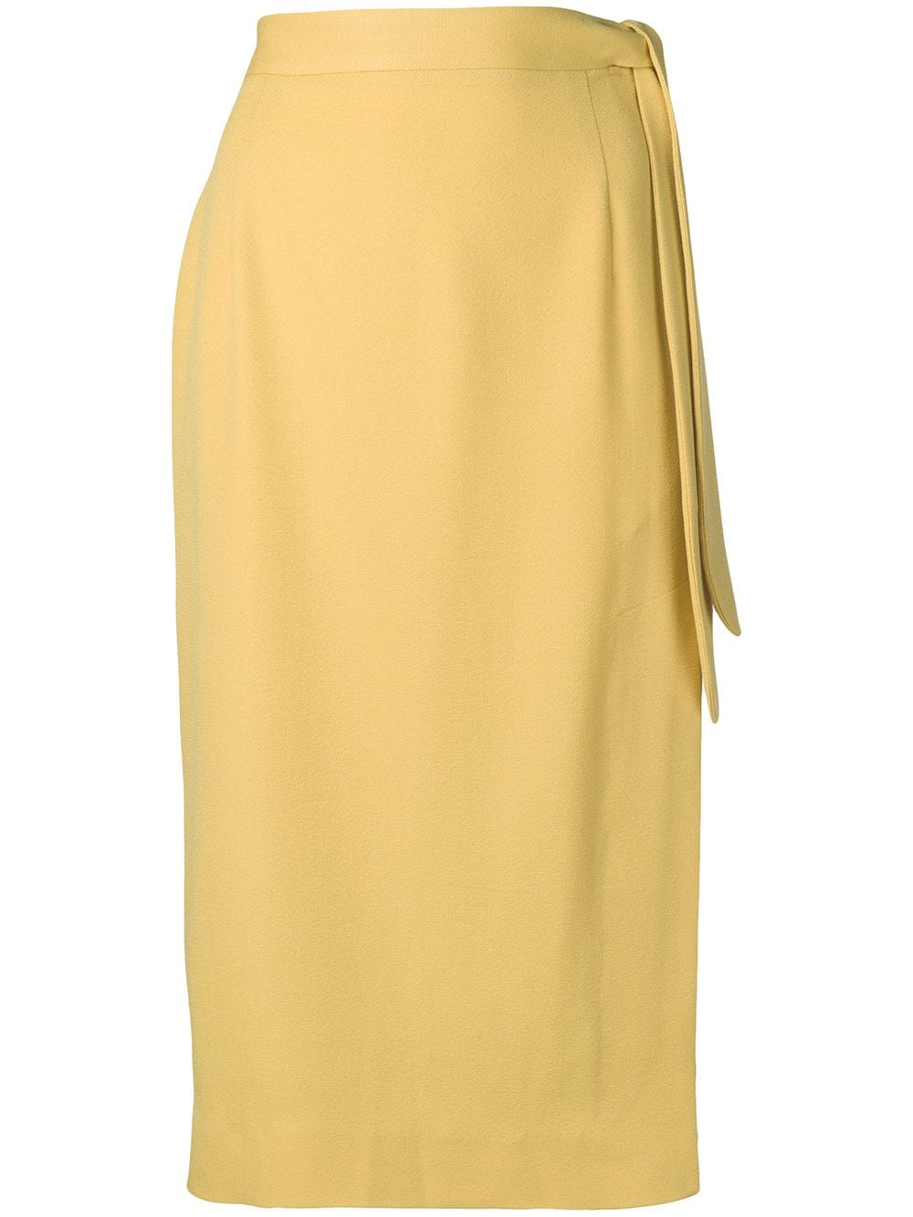 ALEXACHUNG | юбка миди с узлом сбоку | Clouty